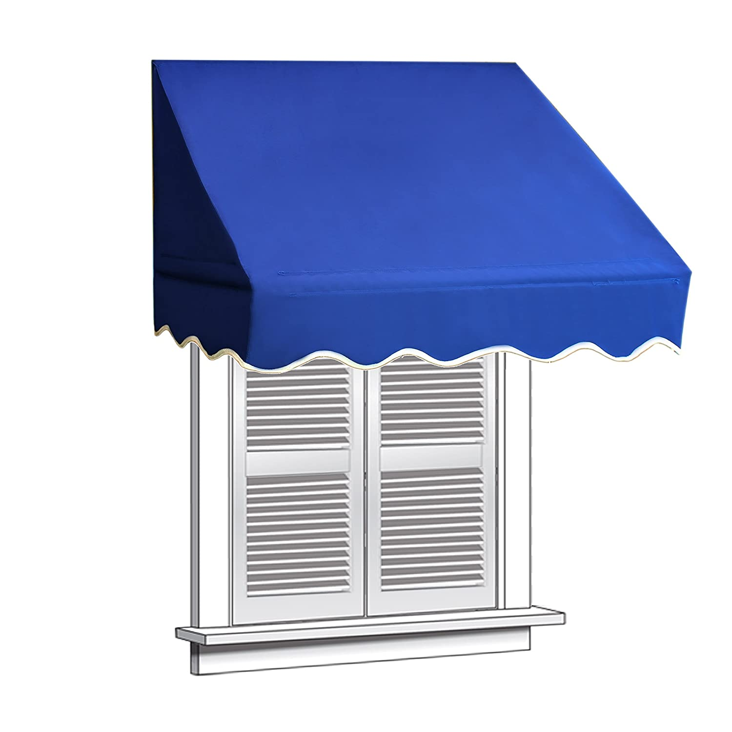 ALEKO 4x2 Blue Window Awning Door Canopy 4-Foot Decorator Awning - - Amazon.com  sc 1 st  Amazon.com & ALEKO 4x2 Blue Window Awning Door Canopy 4-Foot Decorator Awning ...