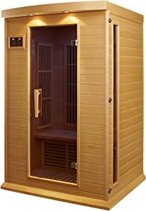 Maxxus 2 Per Low EMF FAR Infrared Carbon Canadian Hemlock Sauna