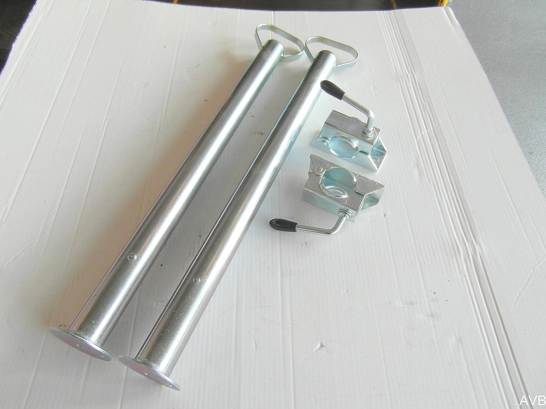 AVB Paket 2 x Abstellstü tzen 700 mm im Set mit Halter fü r PKW Anhä nger OS 1500