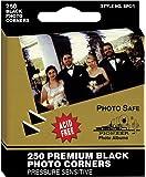 Pioneer Photo Corners Self Adhesive, 250/Pkg, Black