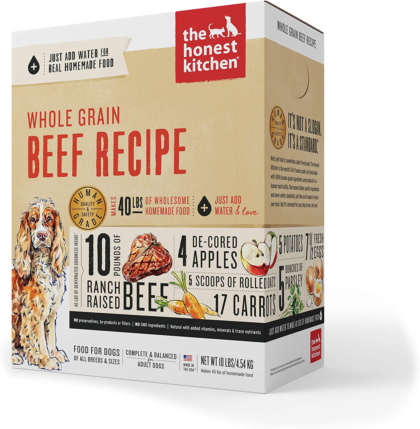 7. The Honest Kitchen Whole Grain Beef Recipe Dehydrated Dog Food