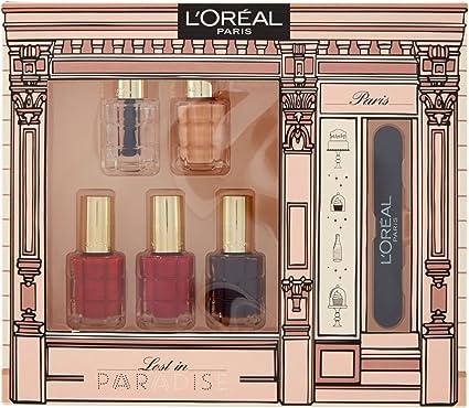 L Oréal Paris estuche con 5 Esmaltes Color ad Aceite y lima de regalo, colección Edición Limitada Lost In Paradise: Amazon.es: Belleza