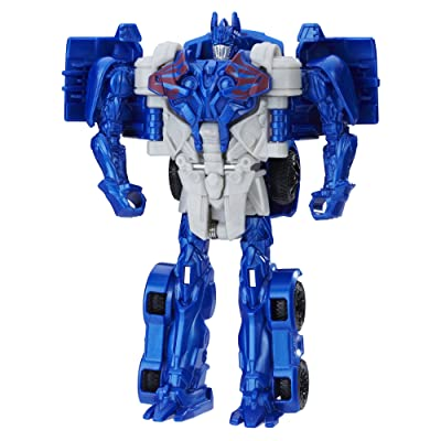Transformers: The Last Knight 1-Step Turbo Changer Cyberfire Optimus Prime: Toys & Games