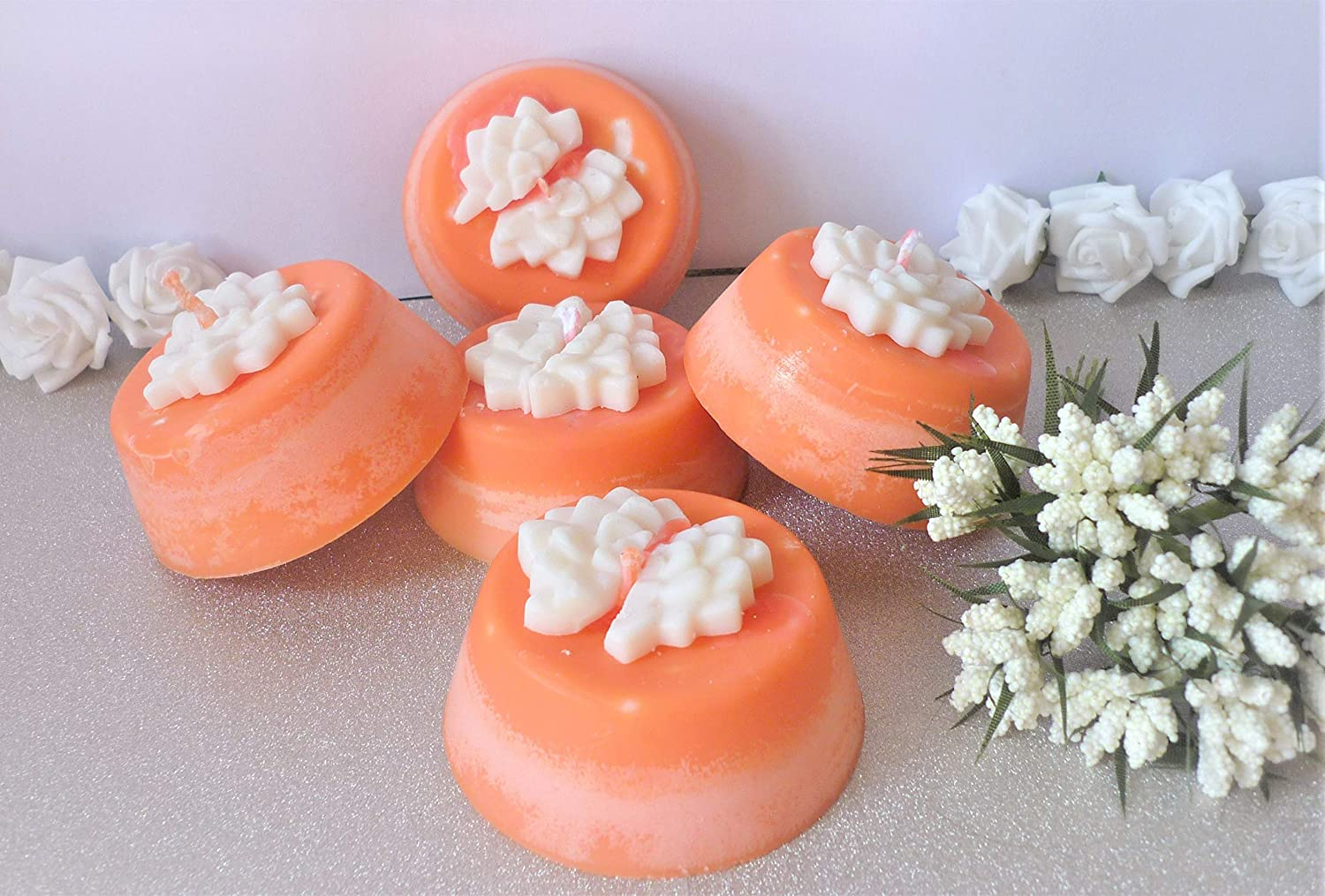 Handmade large tealight candles made from soy wax