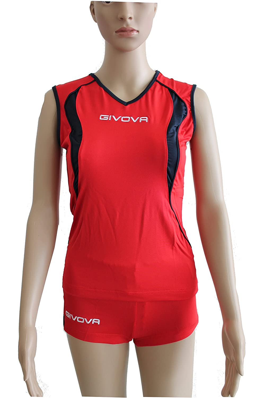 Givova kit de Volley Rouge/Bleu, Taille: 2x L Taille: 2x L