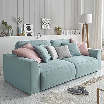 Modernes Design Big Sofa WEEKEND aquamarin Schlaffunktion mit ...