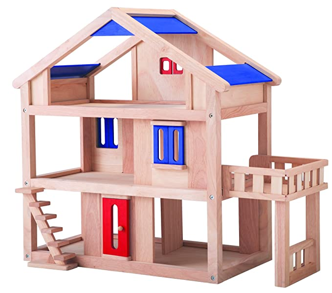 Plan Toys Dollhouse Series Terrace Dollhouse Sorting, Stacking & Plugging Toys at amazon