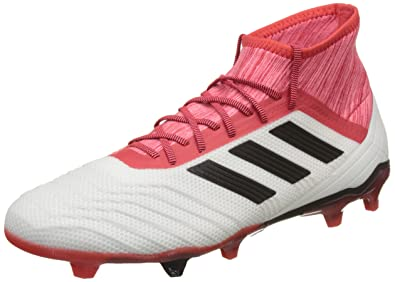 adidas Predator 18.2 FG, Chaussures de Football Homme, Noir (Core Black/FTWR White/Solar Red), 46 2/3 EU