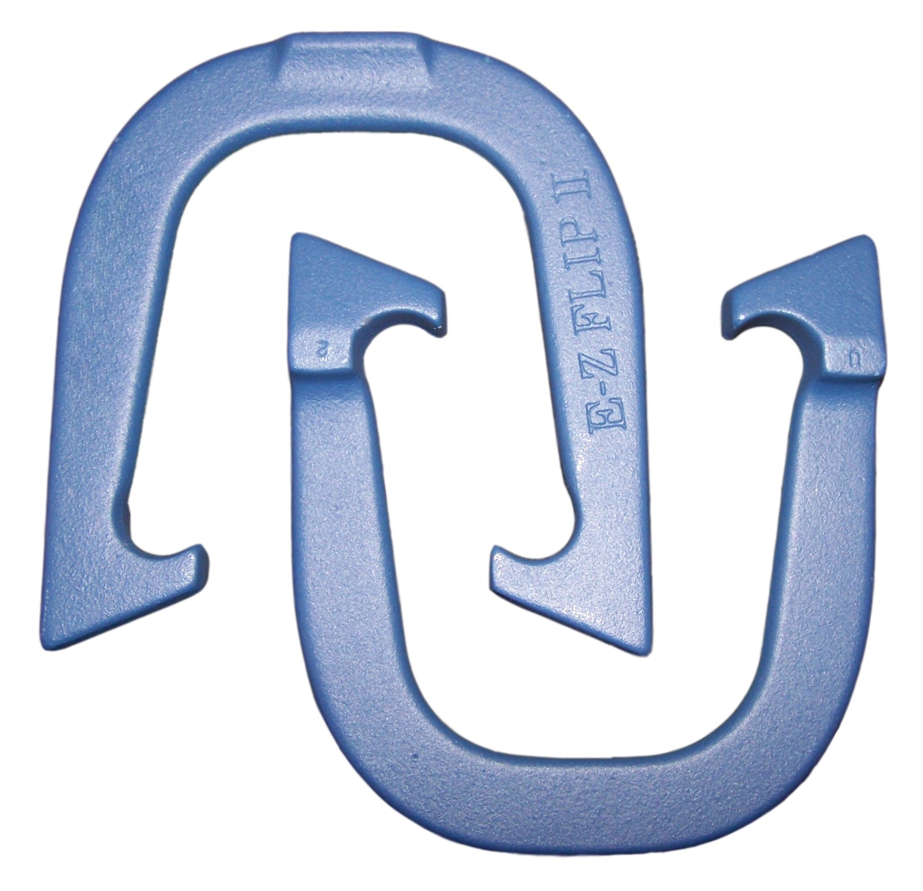 E- Z Flip II Professional Pitching Horseshoes- Made in the USA! (Blue- Single Pair (2 shoes))
