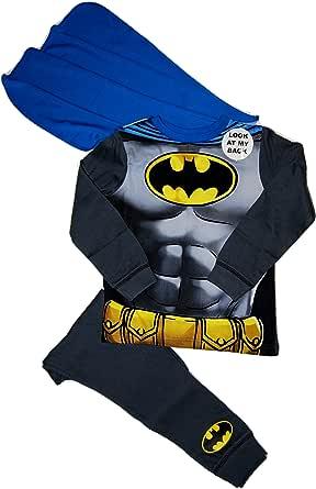 Marvel Disfraz de Batman de disfraz de pijama desmontable Cabo 2-3 3-4 5-6 7-8 años
