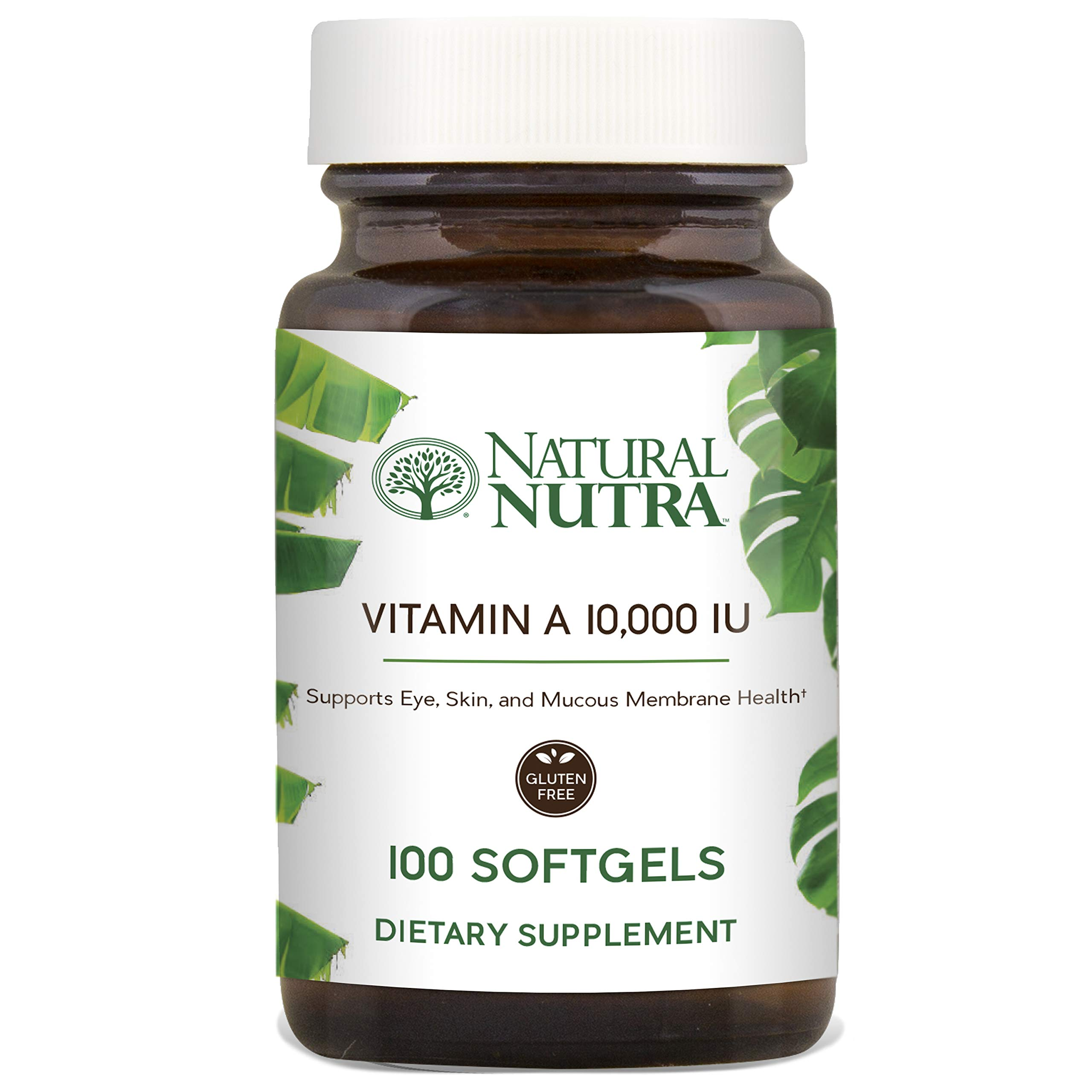 Natural Nutra Vitamin A Dietary Supplement from Cod Liver Oil, 10,000 IU, 100 Softgels by Natural Nutra