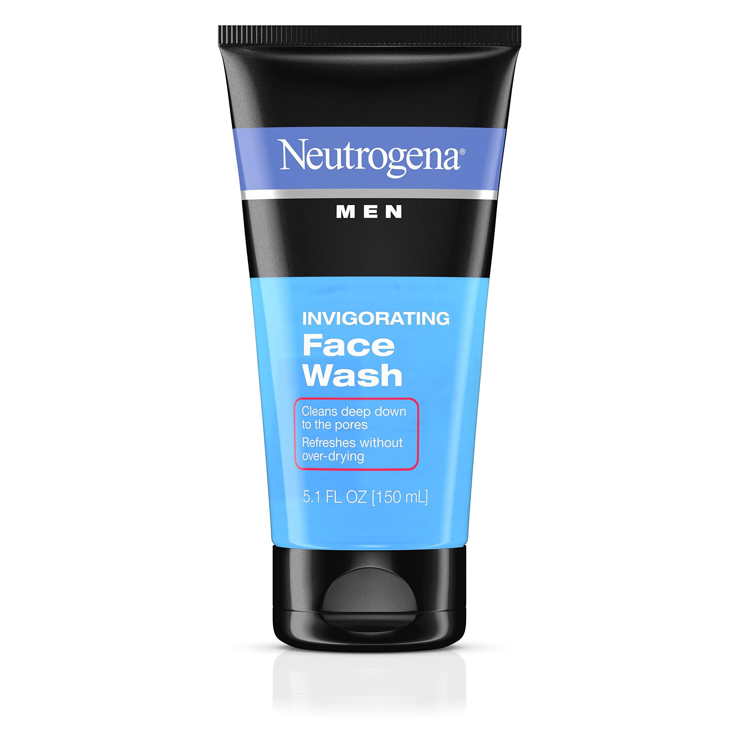Neutrogena Mens Invigorating Daily Foaming Gel Face Wash, Energizing and Refreshing Oil-Free Facial Cleanser for Men 5.1 fl. Oz