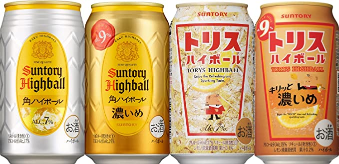 Amazon.co.jp: サントリー ハイボール 4種飲み比べ [ チューハイ 350ml×12本 ]: 食品・飲料・お酒