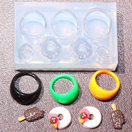multi-clear-silicone Anillo Moldes, anillo tamaño, 7,8,9