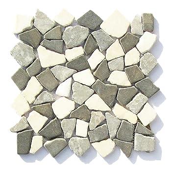 5 m²=55 Matten M-009 Marmor Mosaik Naturstein mediterran Bad Fliesen ...