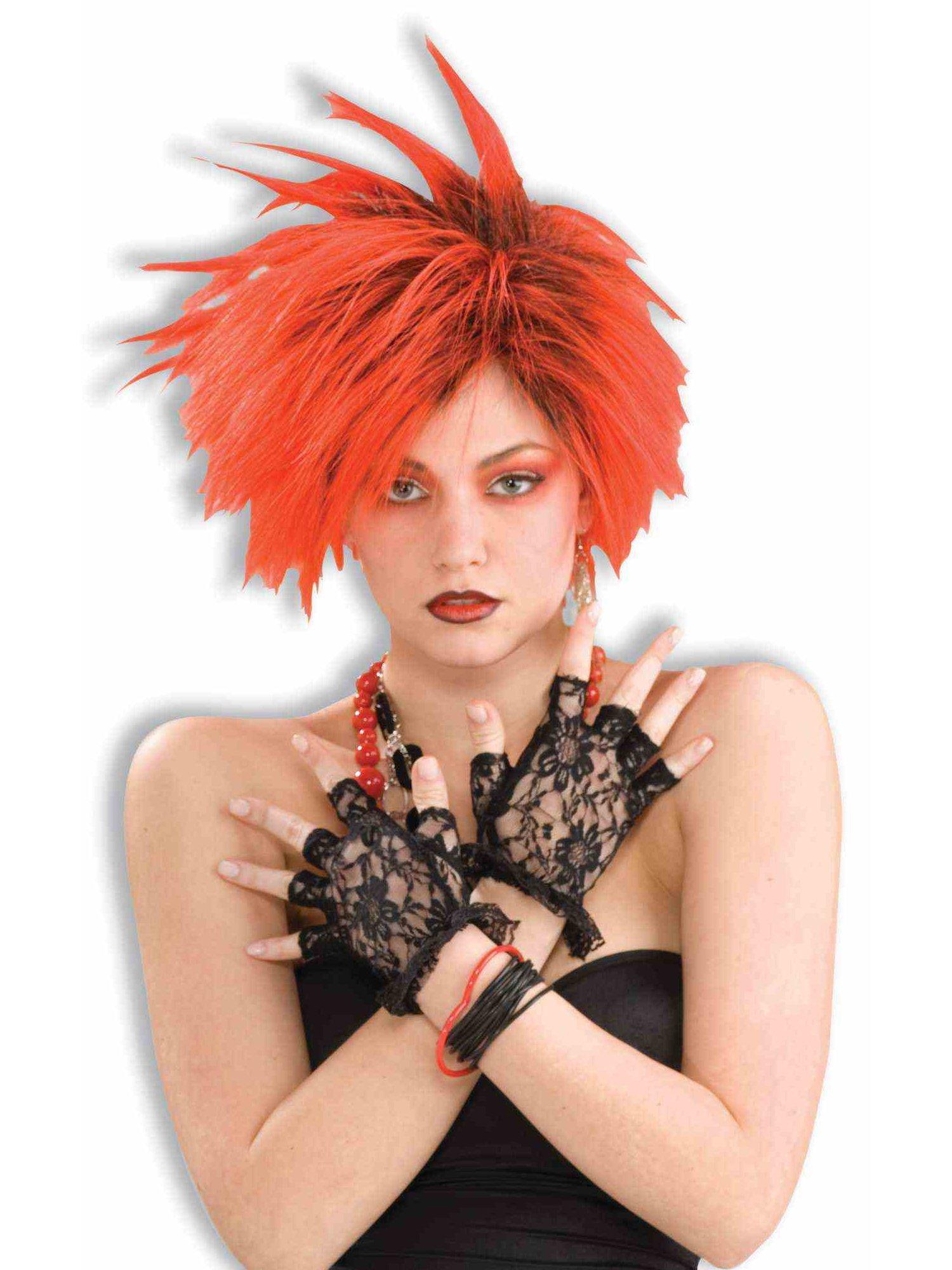 Forum Novelties Black Lacey Fingerless Gloves Adult