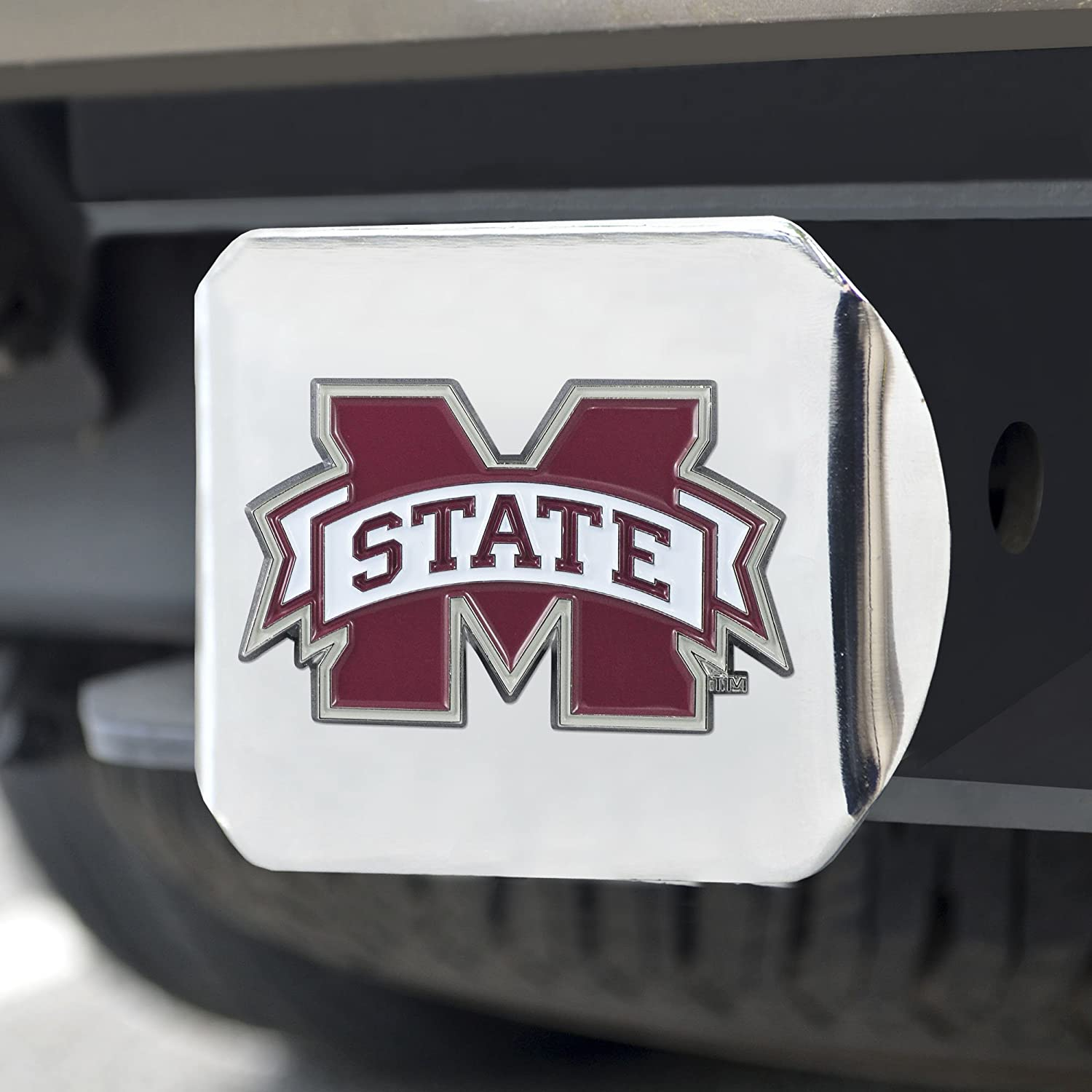 Team Color Chrome FANMATS NCAA Mississippi State Bulldogs Mississippi State Universitycolor Hitch One Size