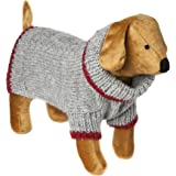 Doggy Things Cable Knit Jumper, XXS, 30 cm, Grey