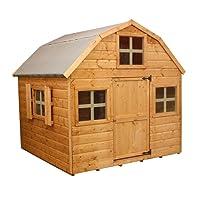 6x6 Honeypot Dutch Barn Wooden Playhouse - Safety Tested, Shiplap Cladding - By Waltons