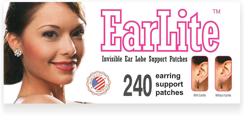 earlite 240Invisible pendientes ear-lobe apoyo parches impermeable parches en bolsa de Ziplock