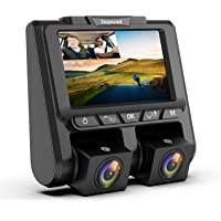 """TOGUARD Uber Dual Dash Cam Full HD 1080P+1080P Inside and Outside Car Camera Dash Cams 3"""" LCD 340° Dashboard Camera with G-Sensor, WDR, Parking Monitor, Motion Detection for Lyft Car Taxi"""