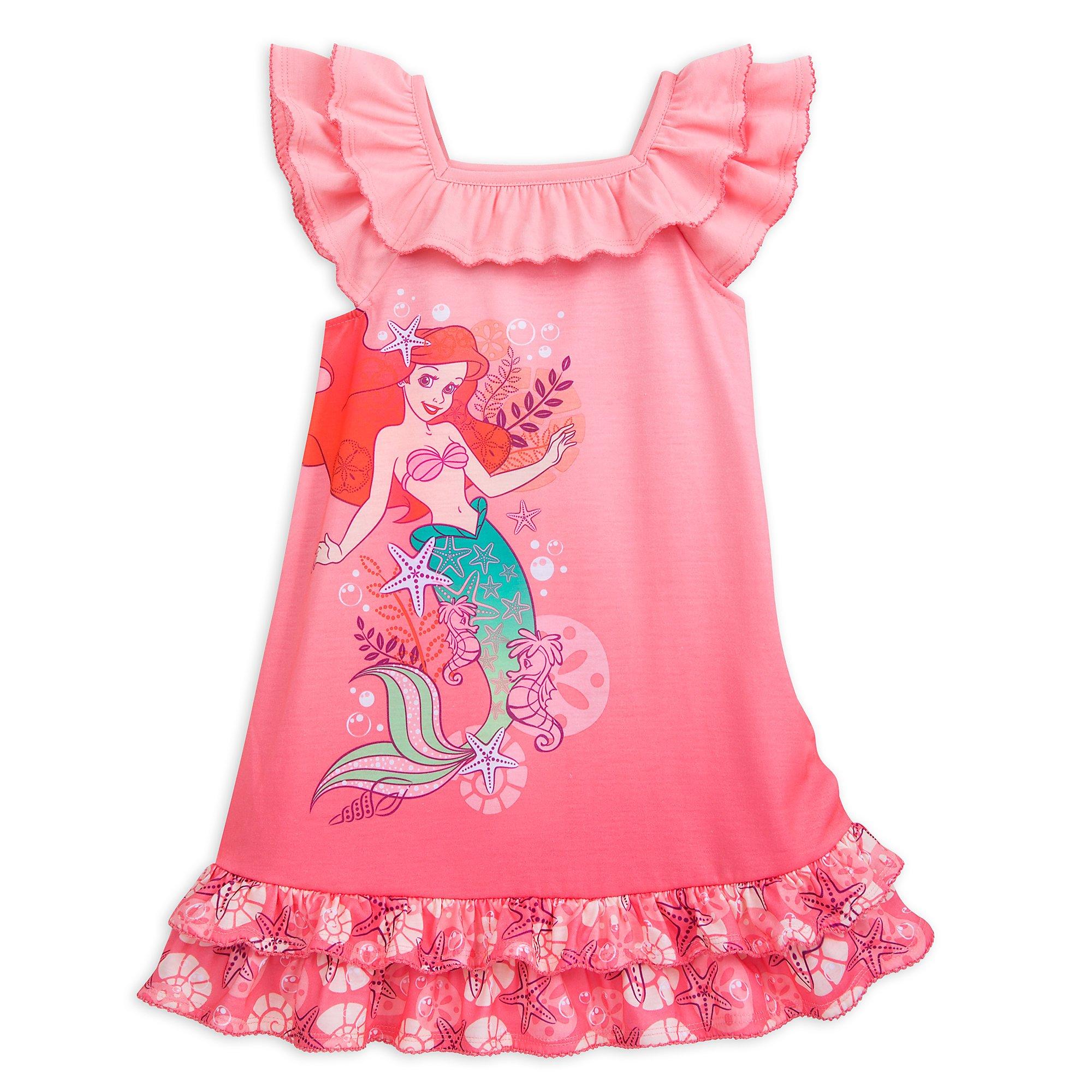 Disney Ariel Nightshirt for Girls Size 5/6 Multi by Disney (Image #1)