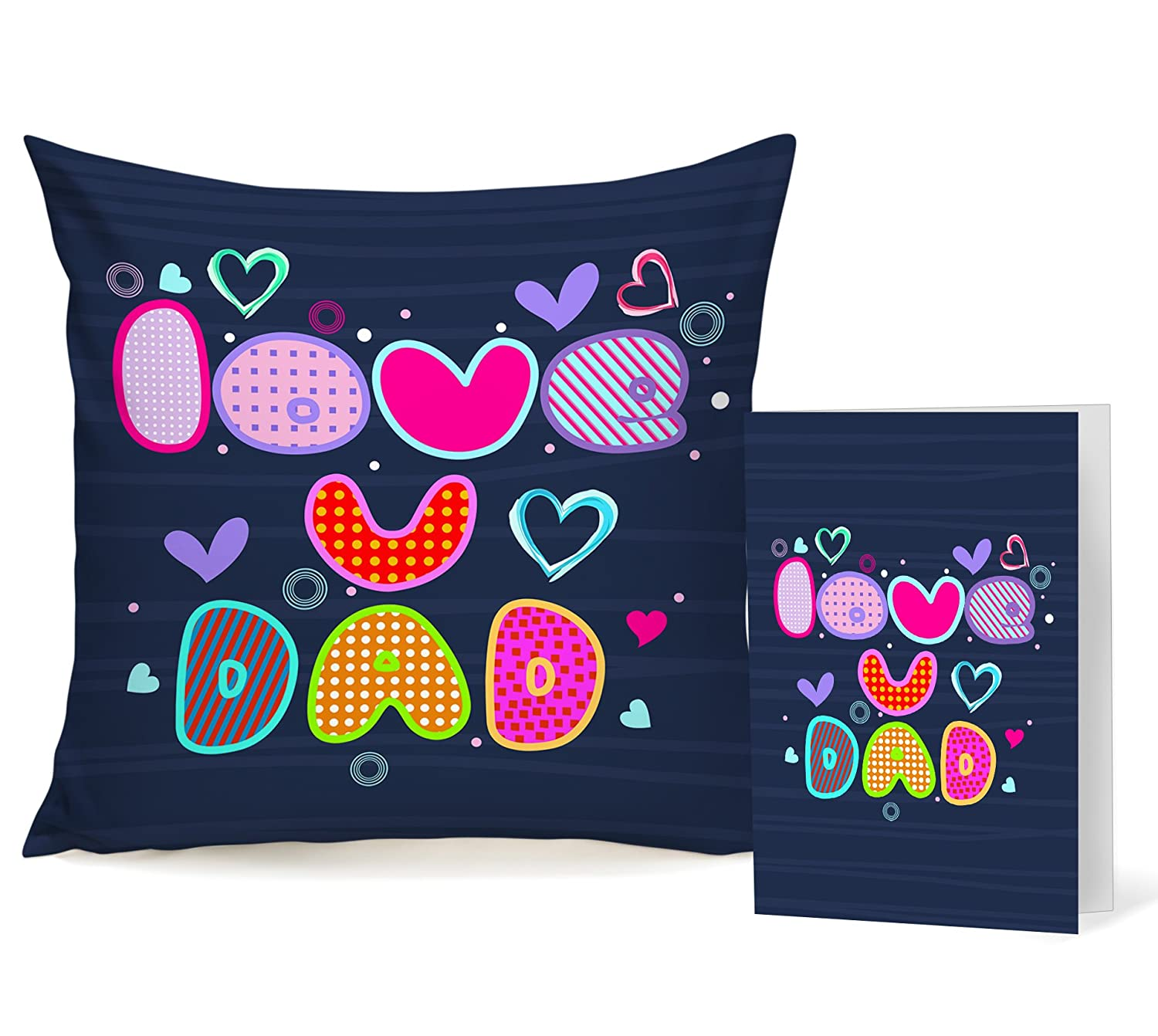 dd13ff29 Buy TIED RIBBONS Gift for Father Greeting Card and Cushion(Satin,  Multicolor, 12 inch X 12 inch) with Filler Online at Low Prices in India -  Amazon.in