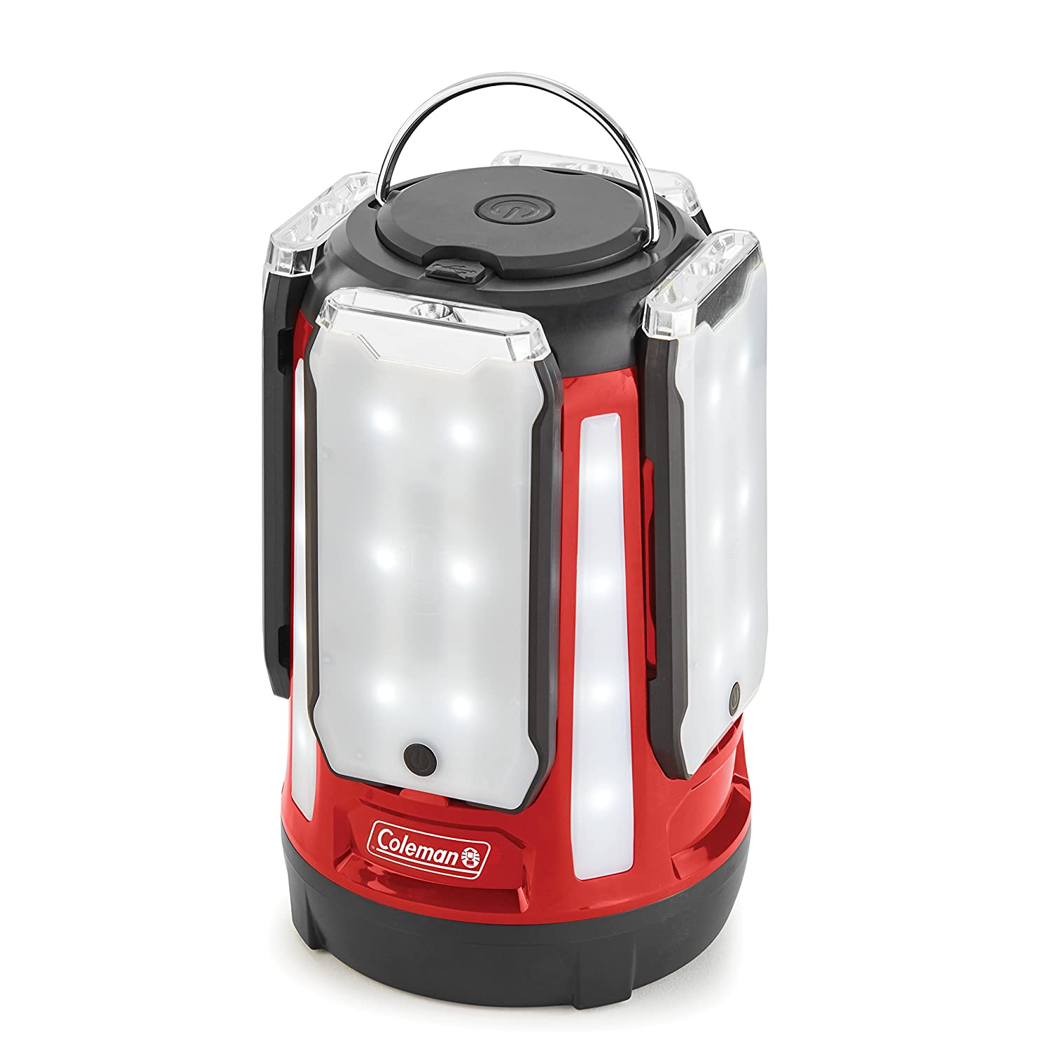 Coleman 4-Panel 800l LED Quad Pro Lantern, Red B079NTXHSD