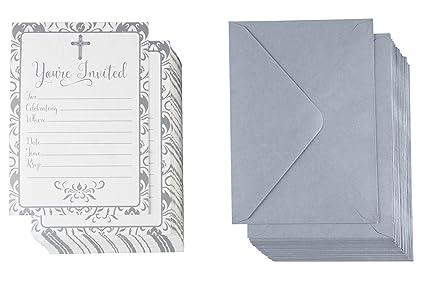 Paquete De 60 Invitaciones Religiosas Tarjetas De