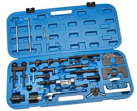 Juego de herramientas para ajuste de la distribución del motor de correas dentadas de gasolina y