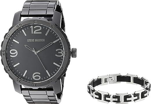 Amazon Com Steve Madden Men S Analog Watch And Bracelet Set
