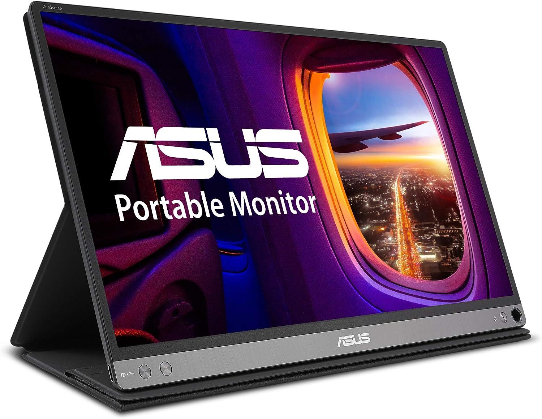 "Asus Zenscreen MB16ACM 15.6"" Portable Monitor Full HD (1920 X 1080) IPS Eye Care USB Type-C Anti-Glare Screen,Dark Gray"