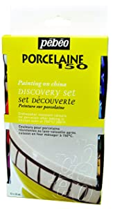 Pebeo Porcelaine 150 Discovery Set of 12 Assorted 20ml China Paint Colors
