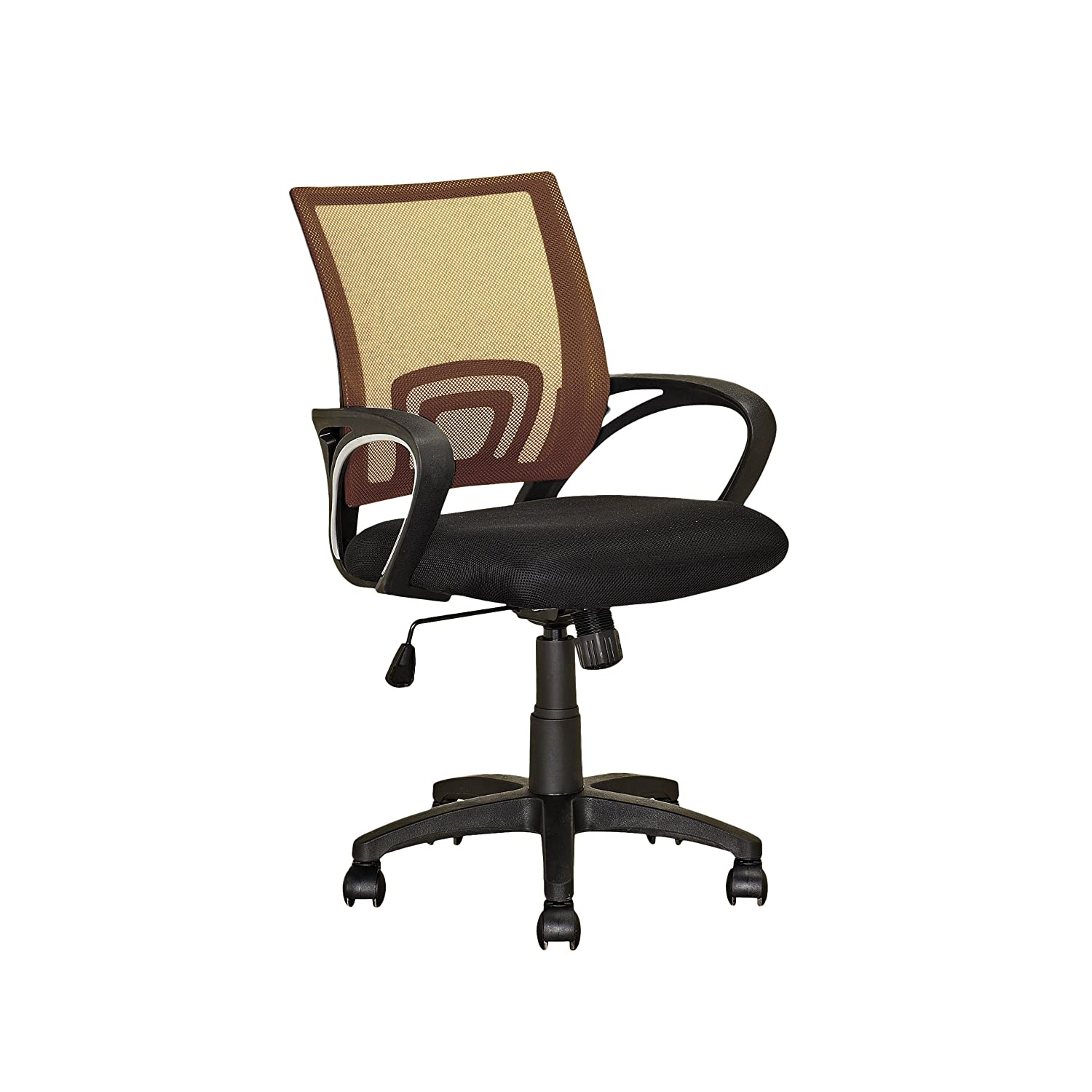 Light Brown CorLiving LOF-313-O Workspace Purple Mesh Back Office Chair