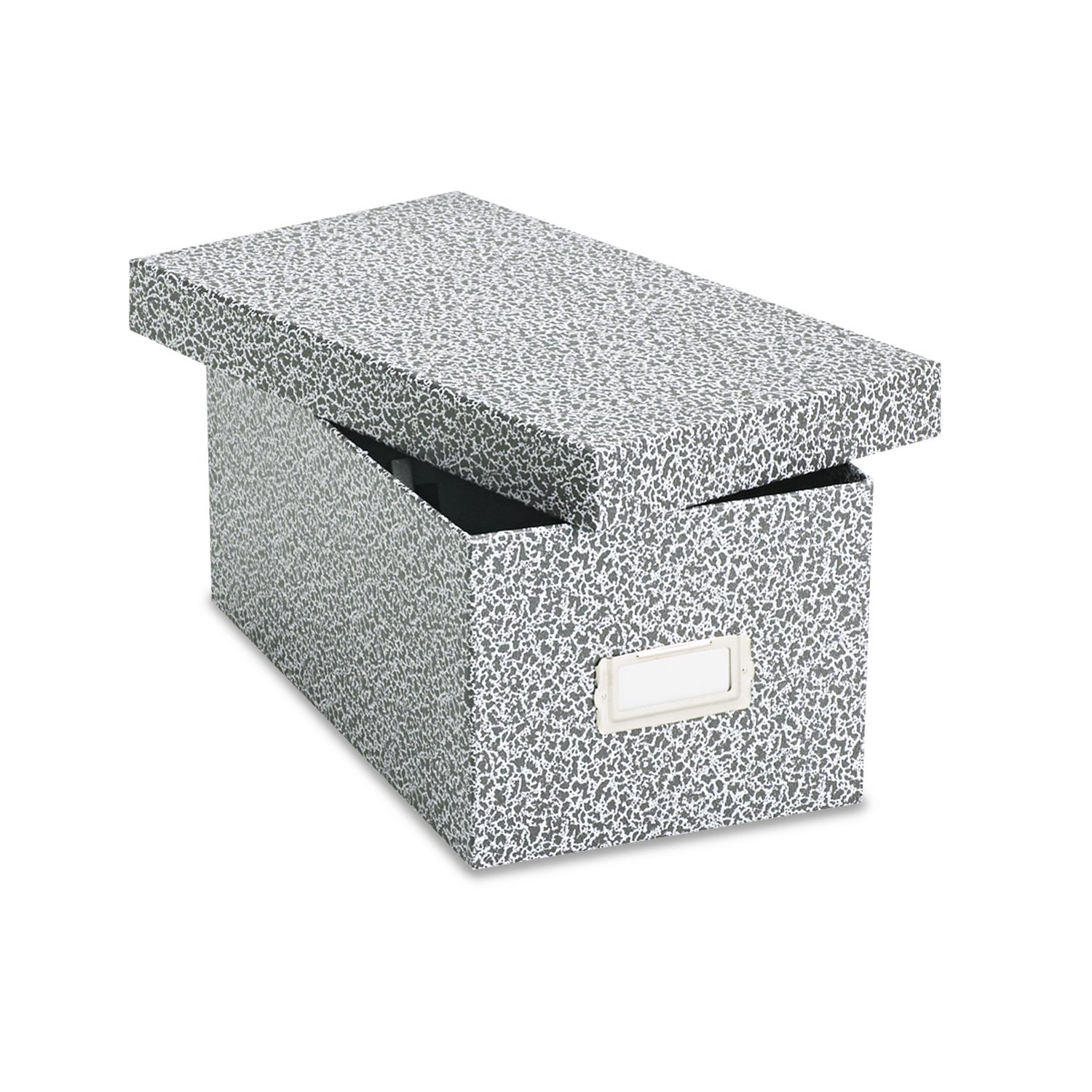 Oxford 40589 Reinforced Board Card File, Lift-Off Cover, Holds 1,200 4 x 6 Cards, Black/White by Office Realm