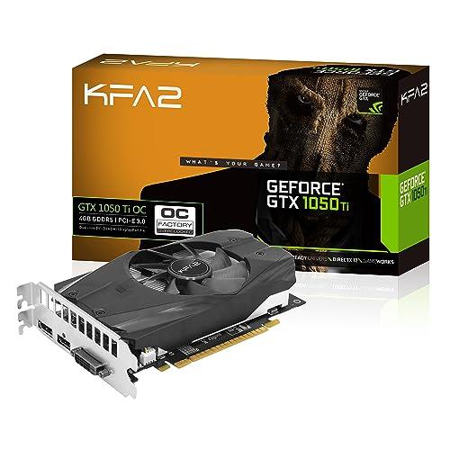 KFA2 GeForce GTX 1050 Ti OC GeForce GTX 1050 Ti 4GB GDDR5 Tarjeta gráfica GeForce GTX 1050 Ti 4 GB GDDR5 128 bit 4096 x 2160 Pixeles PCI Express 3 0