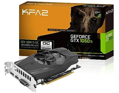 KFA2 GeForce® GTX 1050 Ti OC GeForce GTX 1050 Ti 4GB GDDR5 - Tarjeta gráfica (GeForce GTX 1050 Ti, 4 GB, GDDR5, 128 bit, 4096 x 2160 Pixeles, PCI ...