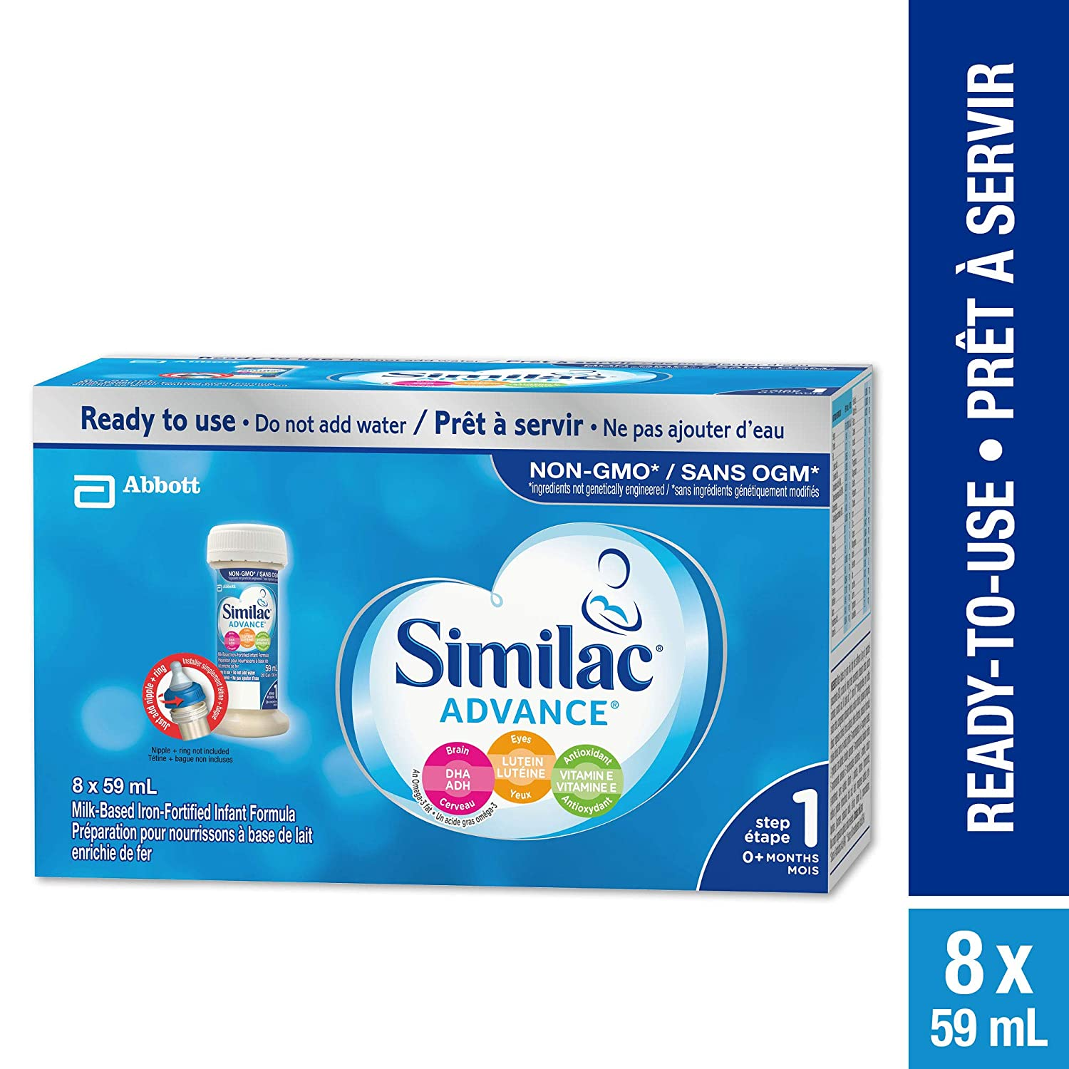 Similac Advance Step 1 Infant Formula, Ready to feed Nursette Bottles Abbott Laboratories