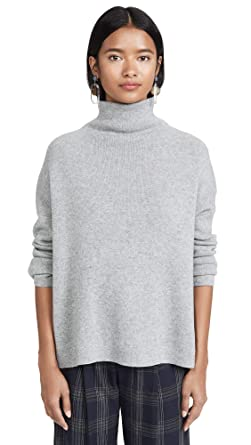 4096c231f2a6c4 Vince Women's Funnel Neck Pullover, Med Heather Grey, XX-Small