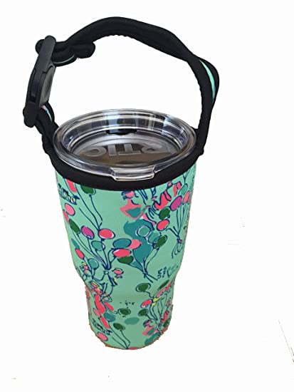 b905bdf6369b8f Image Unavailable. Image not available for. Color: New Lilly Pulitzer  Neoprene Bottle Carry Bag for Rtic/YETI/Barbapapa Tumbler ...