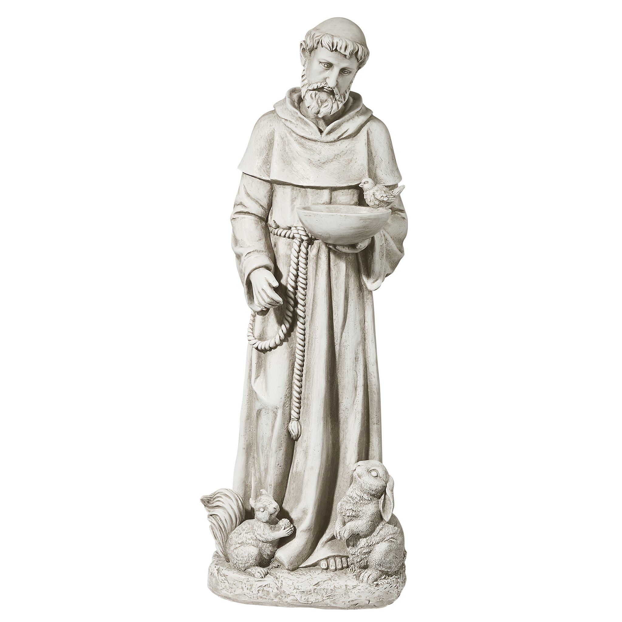 Design Toscano Nature's Nurturer, St. Francis Sculpture, Medium