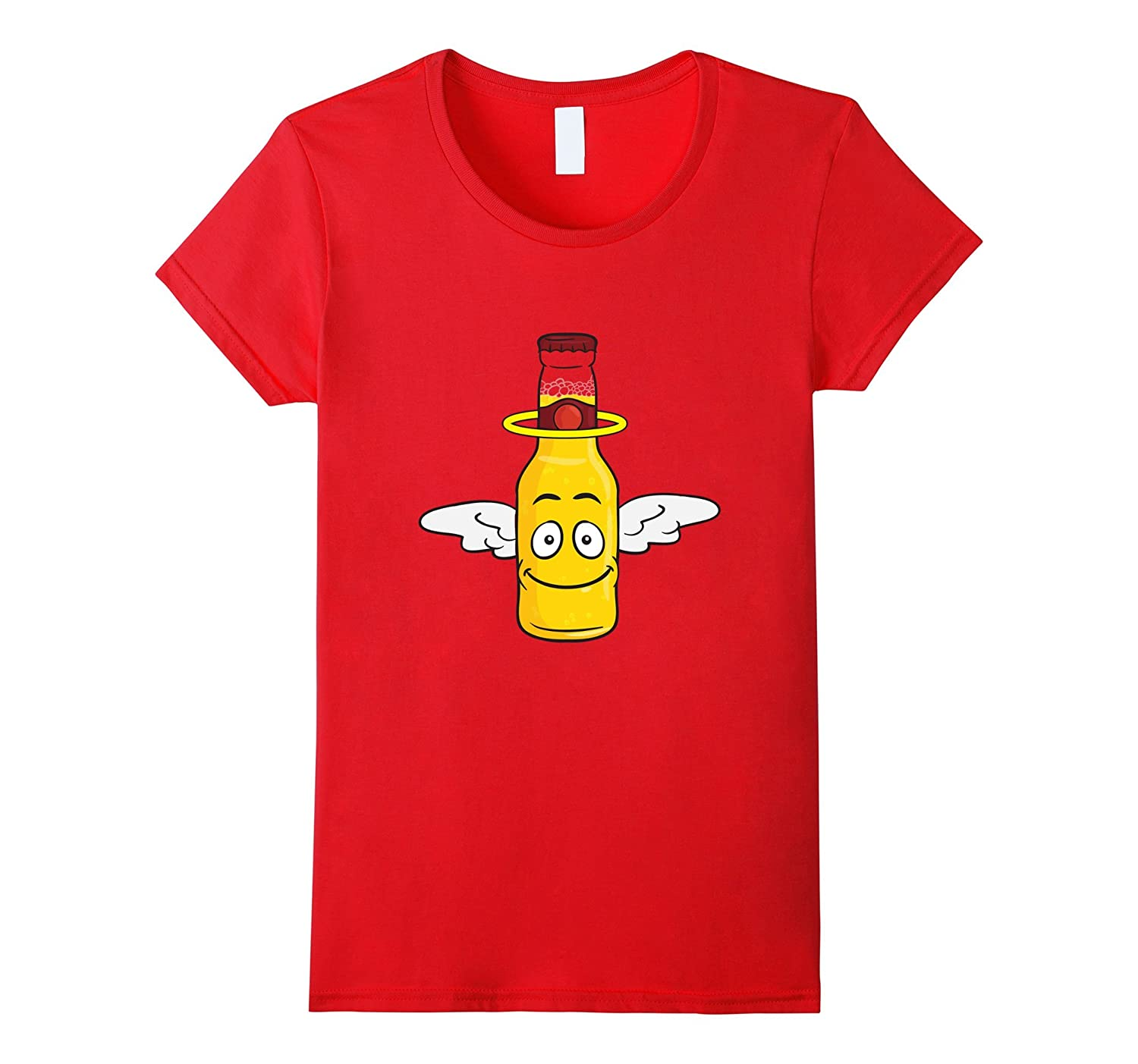 Angel Emoji T-Shirt (Beer With Wings & Halo)