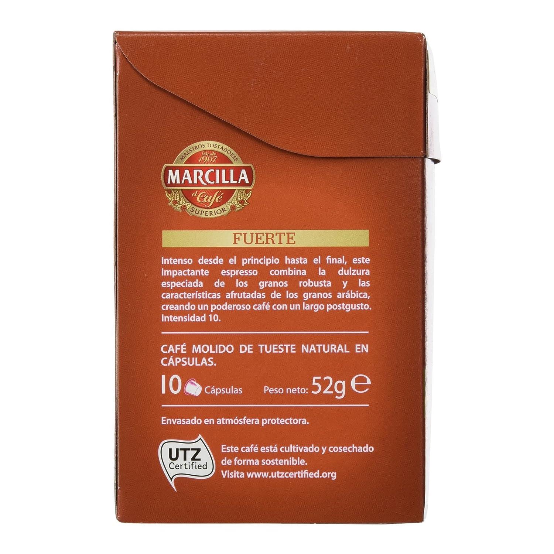 Marcilla - Cápsulas superior de café Fuerte - 10 Cápsulas - [pack de 4]: Amazon.es: Alimentación y bebidas