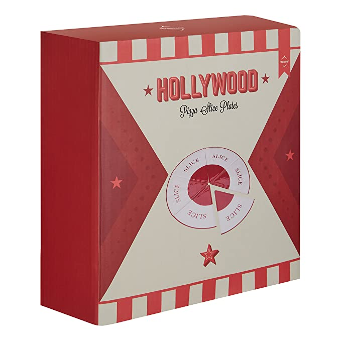 Red//cream Premier Housewares Hollywood Pizza Plate Stoneware Redcream