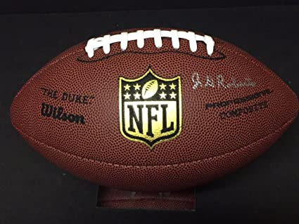 J. D. Roberts Oklahoma Sooners Outland Trophy New Orleans Saints Signed  Football - NFL Autographed Miscellaneous Items b67d8b811