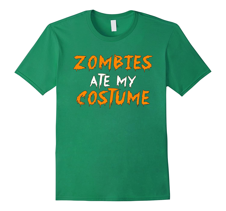 Zombies Ate My Costume T-shirt Halloween tshirt-FL