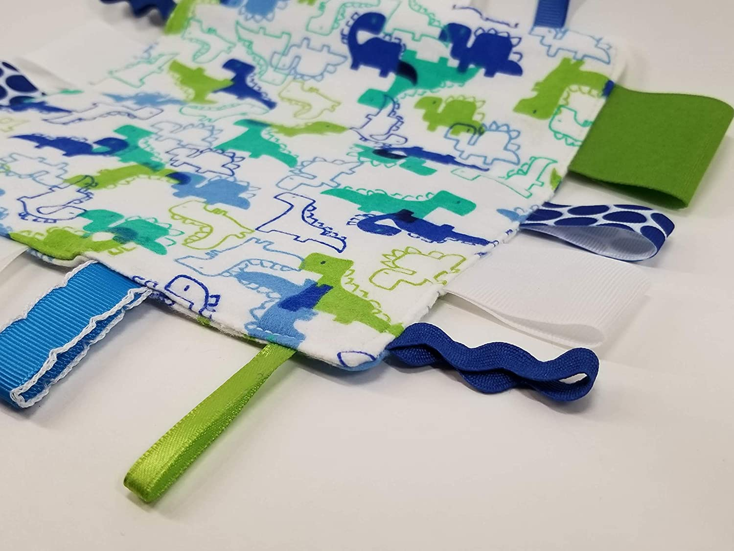 Blue /& Green Dinosaurs and Crinkle Square