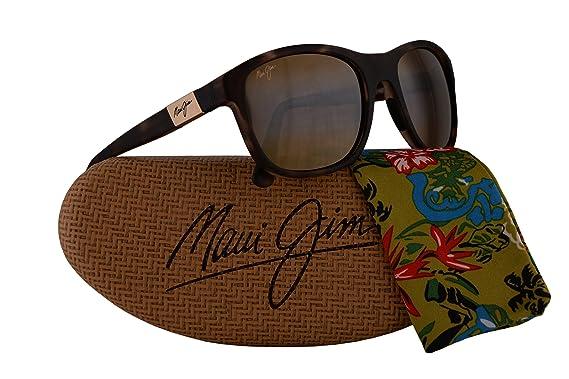 10dd94c88d2 Maui Jim Wakea Sunglasses Matte Tortoise Rubber w Polarized Bronze Lens  MJ745-10MR  Amazon.co.uk  Clothing