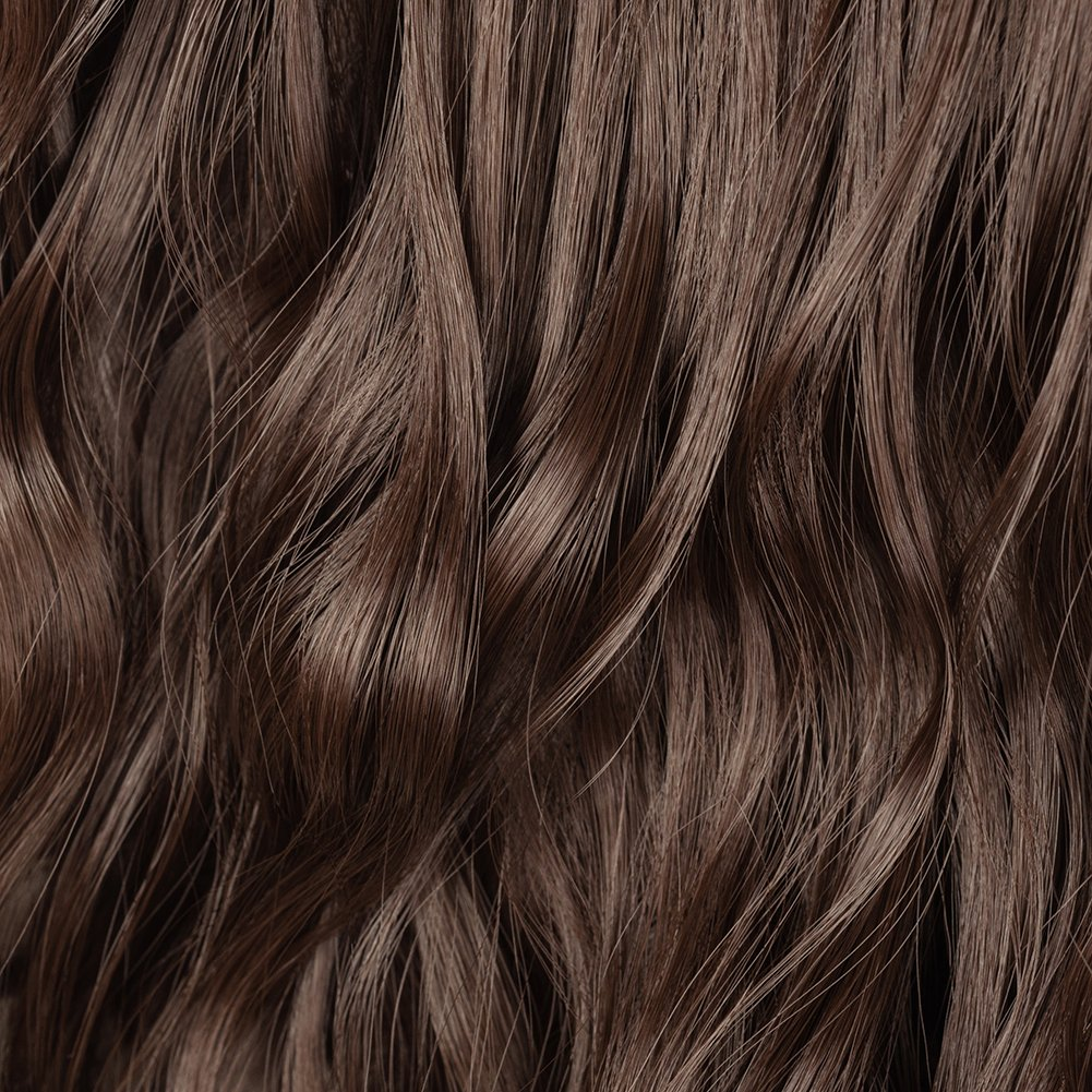 Clip in Hair Extensions Synthetic Full Head Charming Hairpieces Thick Long Straight 8pcs 18clips for Women Girls Lady (24 inches-wavy, medium brown) by Beauti-gant (Image #6)
