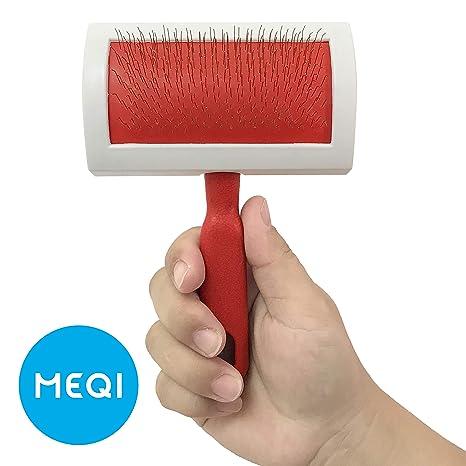 Amazon.com: Profesional Pet Slicker cepillo para polvo ...